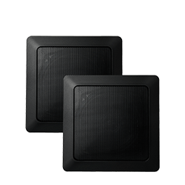 Square Black Music Speakers